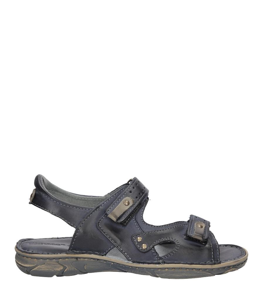 Męskie Sandały skórzane Windssor 028 niebieski;;