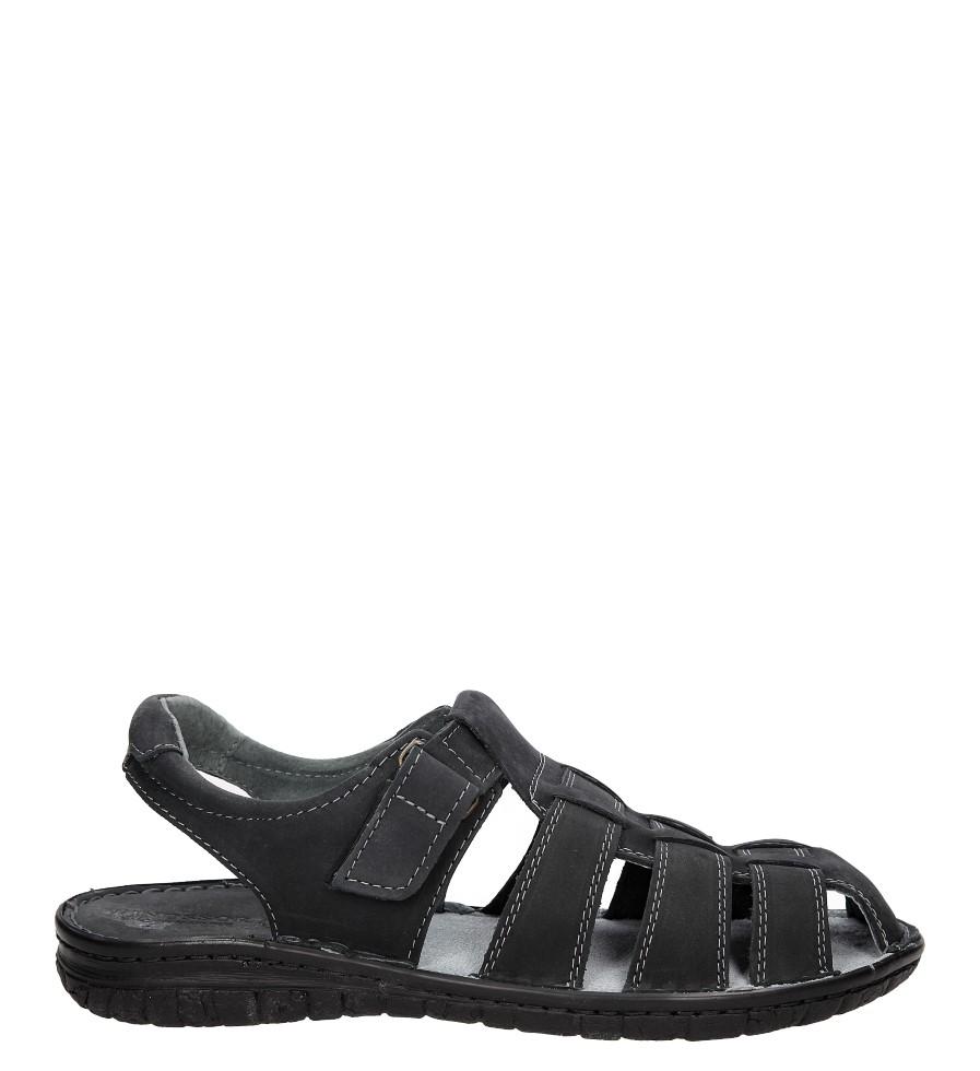 Męskie Sandały skórzane Windssor 027 czarny;;