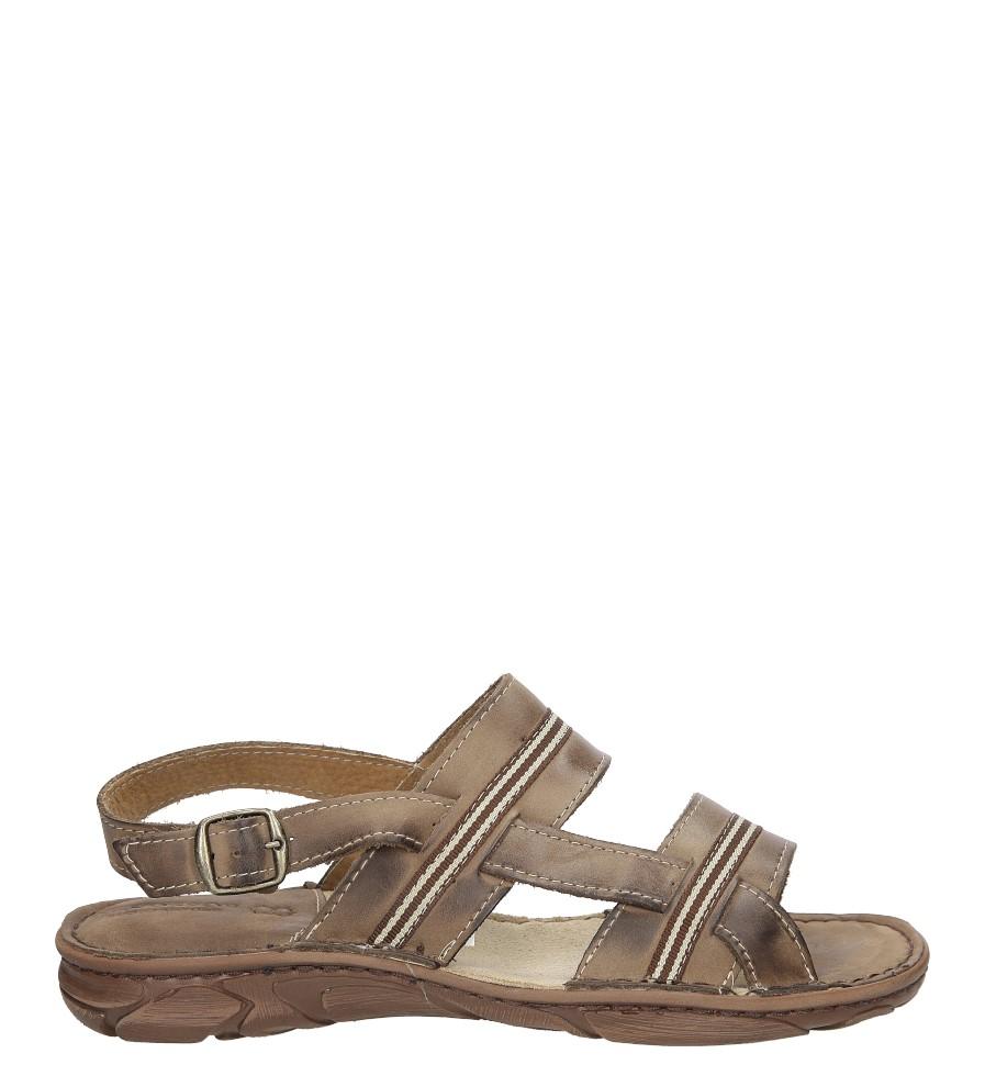 Męskie Sandały skórzane Windssor 023 brązowy;;