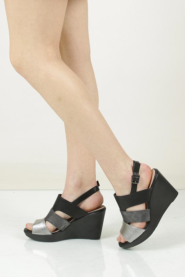 Sandały na koturnie Sergio Leone 39226