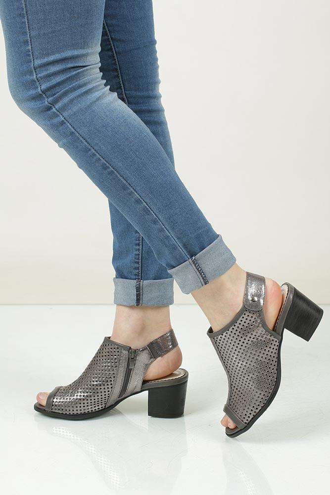 Sandały ażurowe Jezzi SA69-7 srebrny