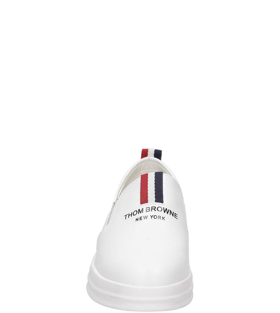 Slip on Jezzi SA86-3 kolor biały