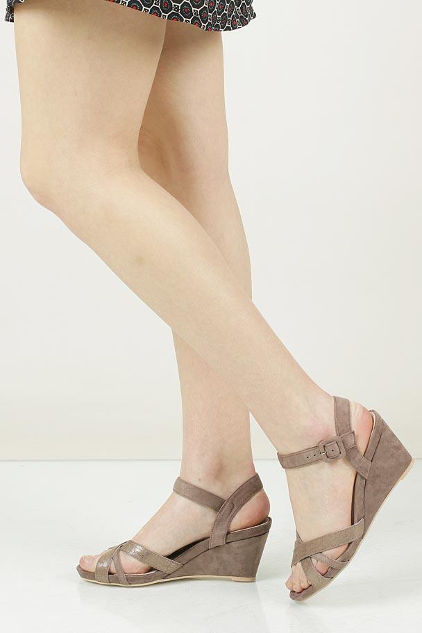 Sandały na koturnie Jezzi 04SD76214