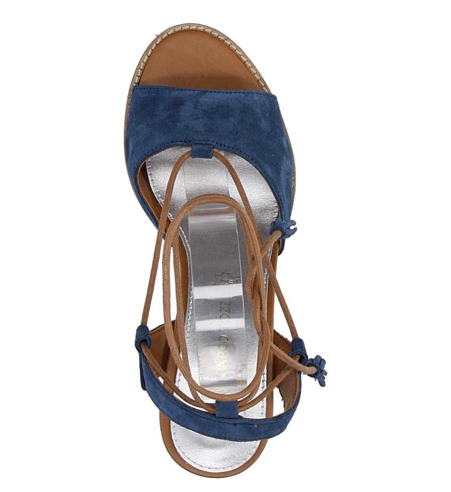 Sandały z zamszu wiązane Marco Tozzi 2-28365-28 wysokosc_platformy 1 cm