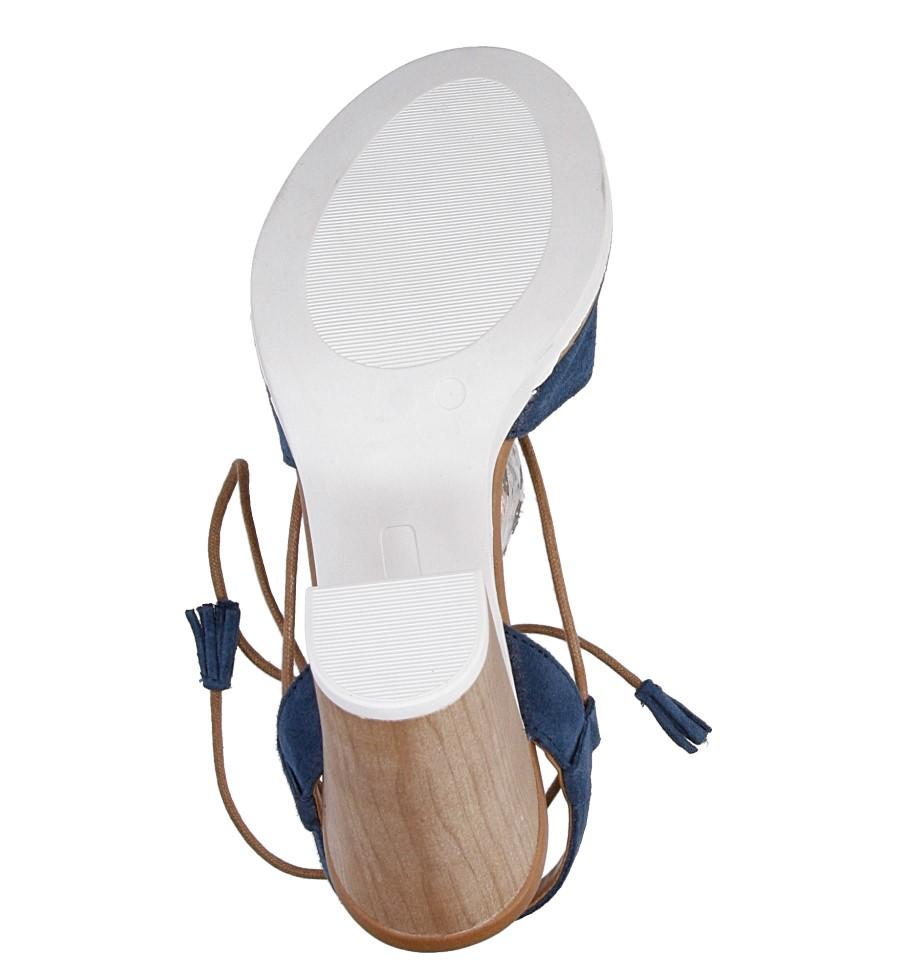Sandały z zamszu wiązane Marco Tozzi 2-28365-28 wys_calkowita_buta 15 cm