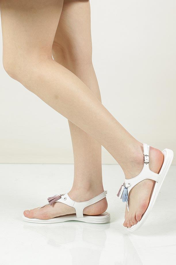 Damskie Sandały skórzane Marco Tozzi 2-28142-38 biały;;
