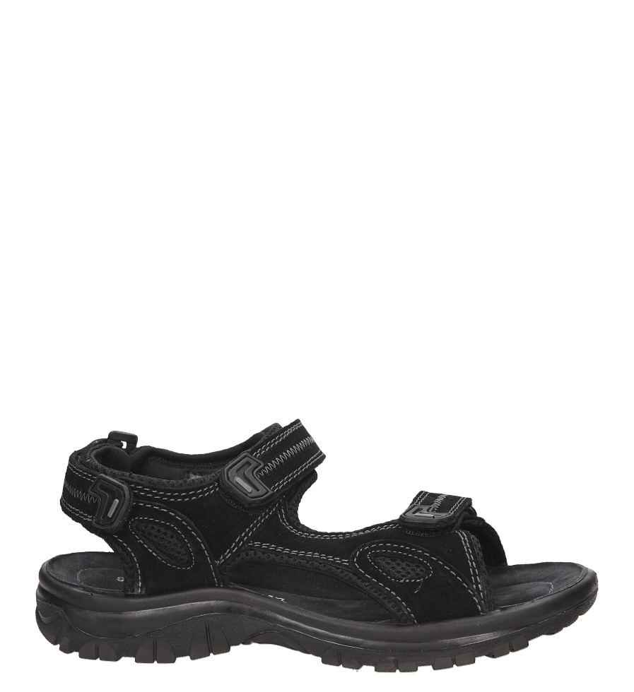 Męskie Sandały skórzane Marco Tozzi 2-18400-28 czarny;;