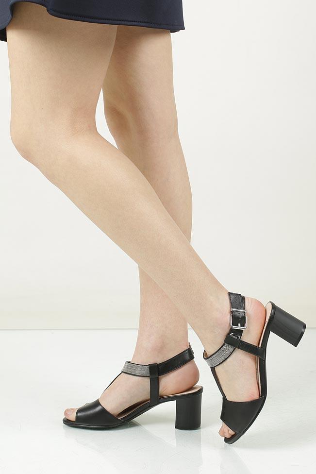 Sandały skórzane na słupku Caprice 9-28301-28
