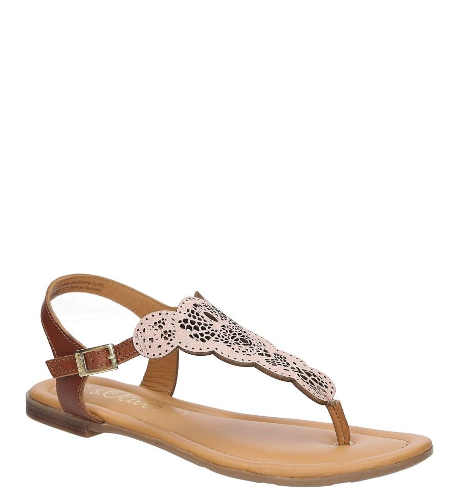 Damskie Sandały skórzane ażurowe S.Oliver 5-28102-28 różowy;;