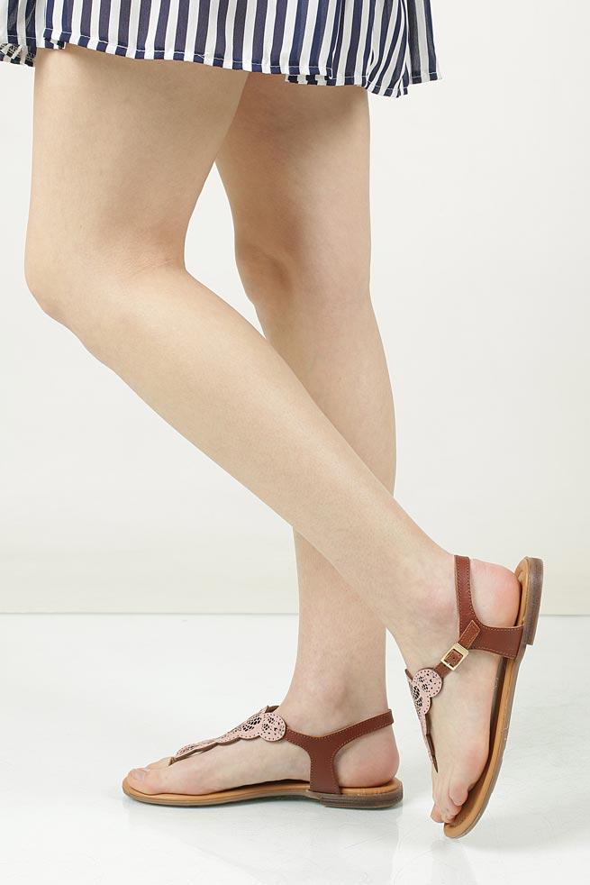 Sandały skórzane ażurowe S.Oliver 5-28102-28 model 5-28102-28