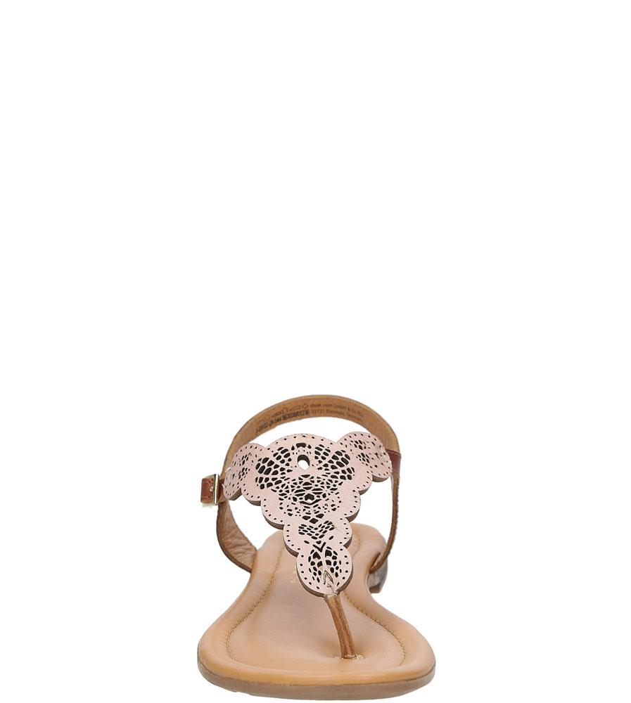 Sandały skórzane ażurowe S.Oliver 5-28102-28 style Ażurowy