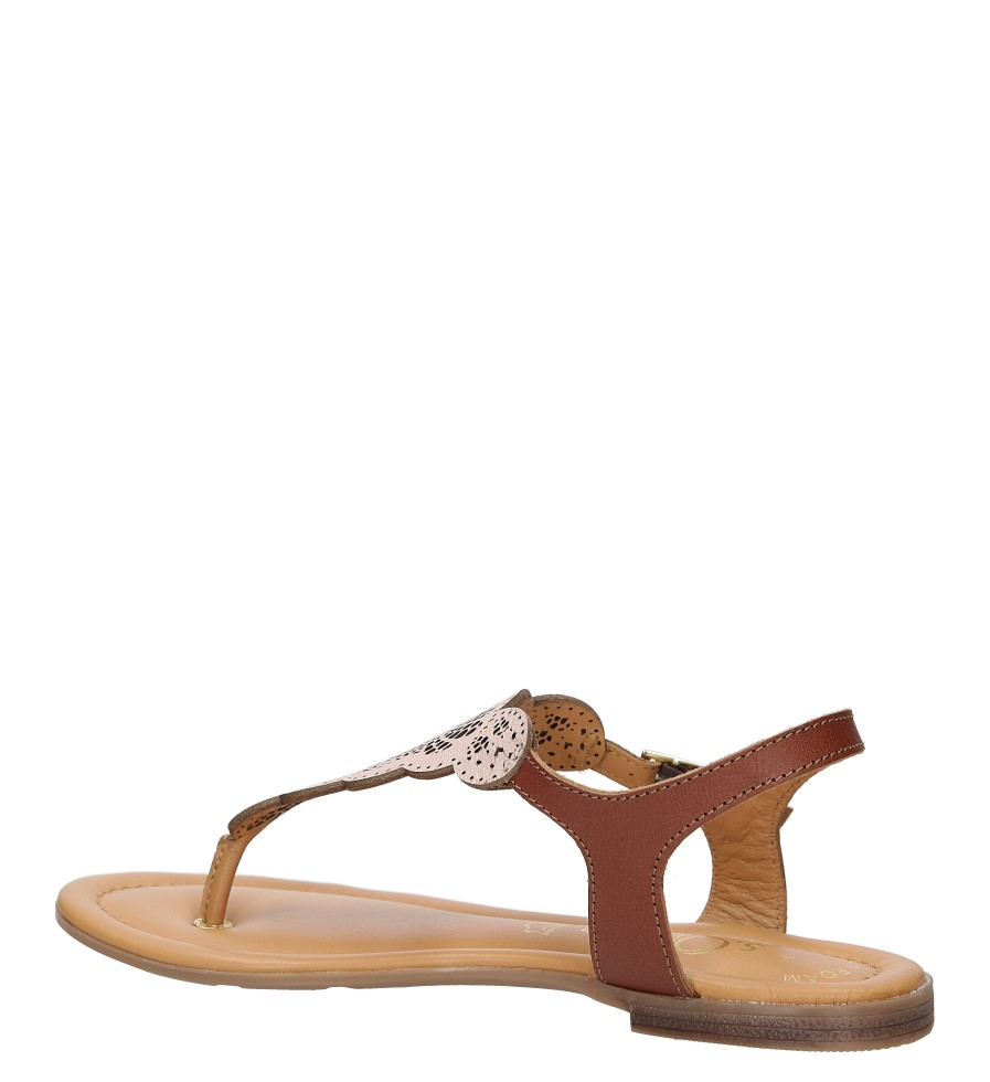 Sandały skórzane ażurowe S.Oliver 5-28102-28 kolor różowy