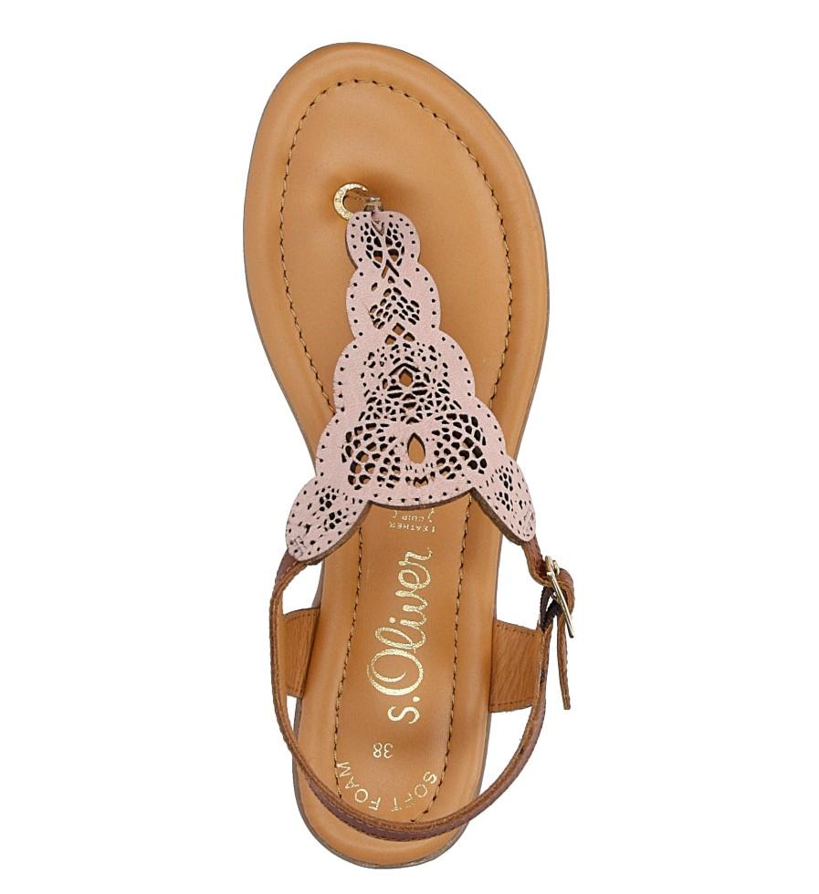 Sandały skórzane ażurowe S.Oliver 5-28102-28 wysokosc_obcasa 1.5 cm