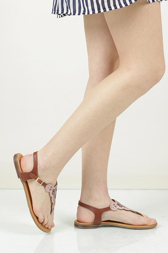 Sandały skórzane ażurowe S.Oliver 5-28102-28 wnetrze skóra
