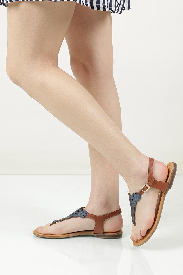 Sandały skórzane ażurowe S.Oliver 5-28102-28