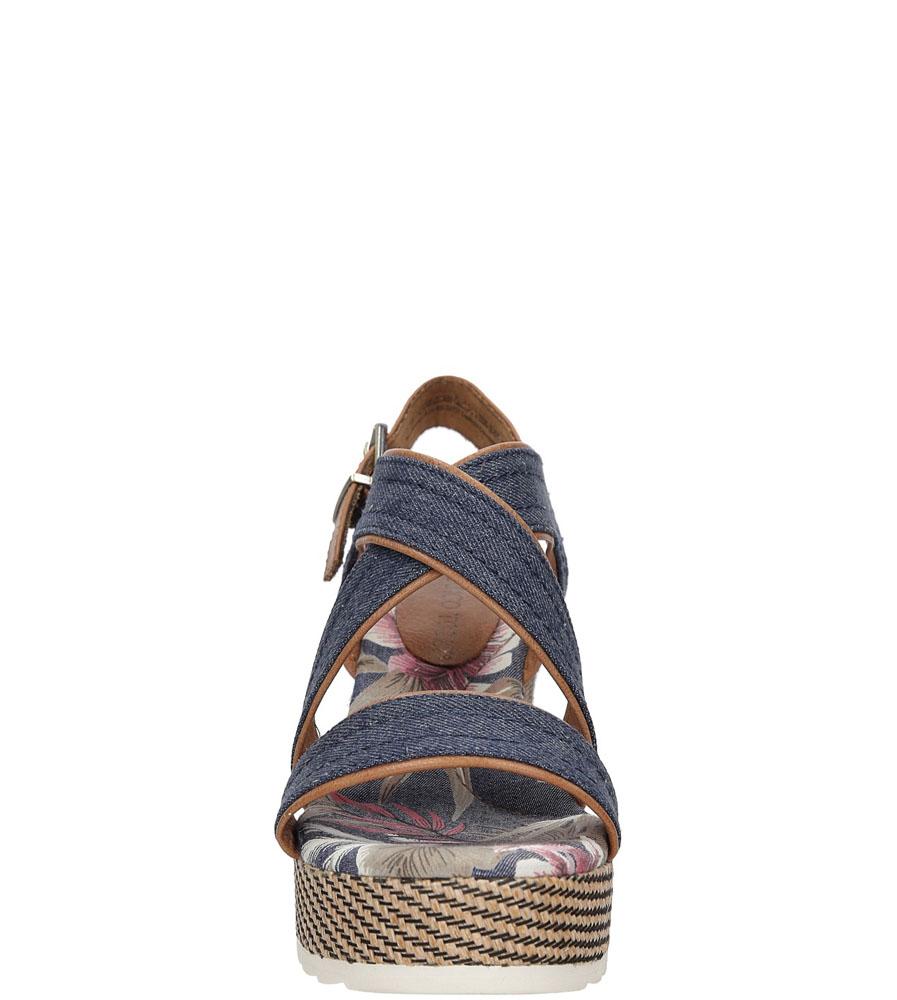 Sandały na koturnie Marco Tozzi 2-28389-38 kolor niebieski