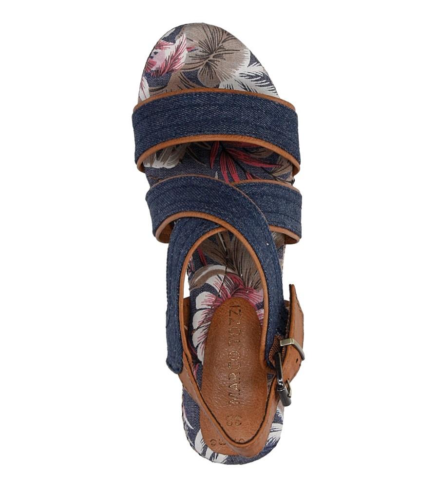 Sandały na koturnie Marco Tozzi 2-28389-38 wysokosc_platformy 3.5 cm