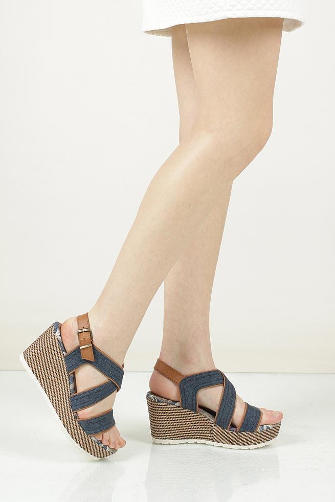 Sandały na koturnie Marco Tozzi 2-28389-38 wkladka materiał
