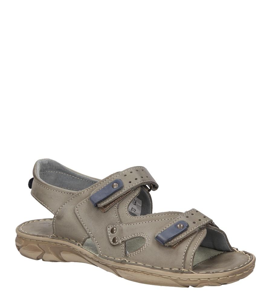 Męskie Sandały skórzane Windssor 028 szary;;