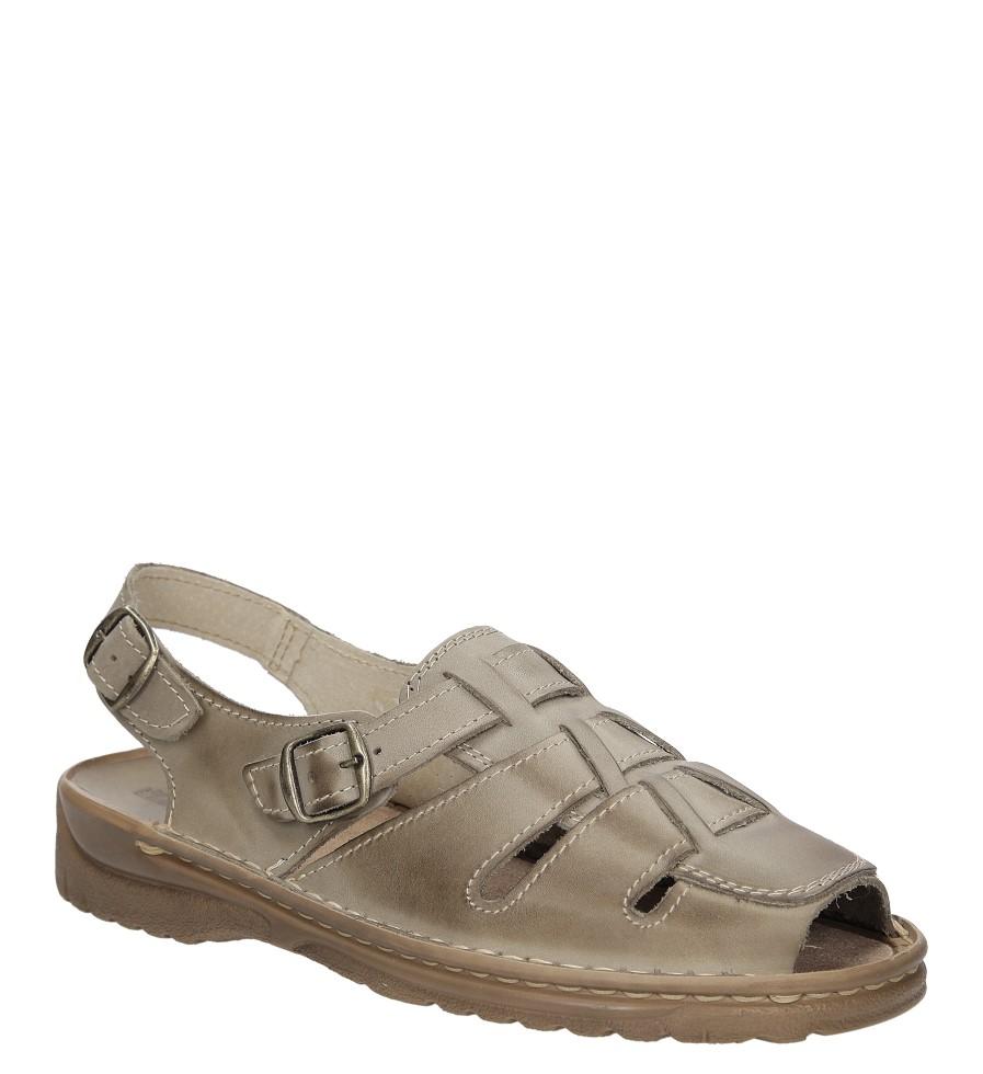 Sandały skórzane Windssor 009 szary