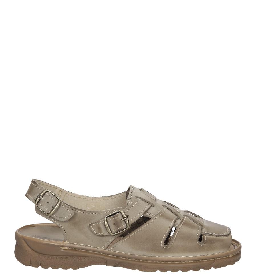 Męskie Sandały skórzane Windssor 009 szary;;