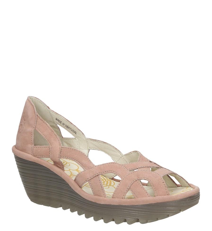 Sandały skórzane na koturnie Fly London P500718000