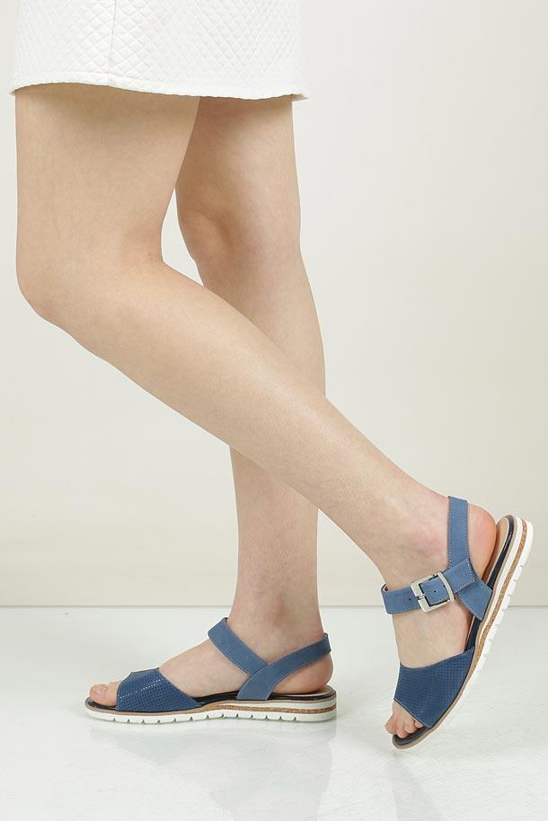 Damskie Sandały Casu 3642 niebieski;;