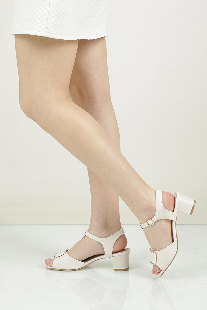 Damskie Sandały Sergio Leone 11806 beżowy;;