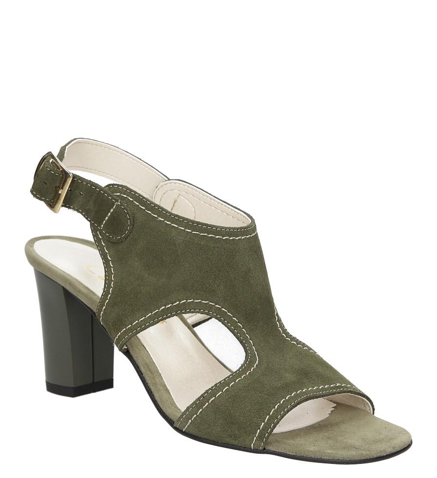 Sandały skórzane na słupku Casu 1931