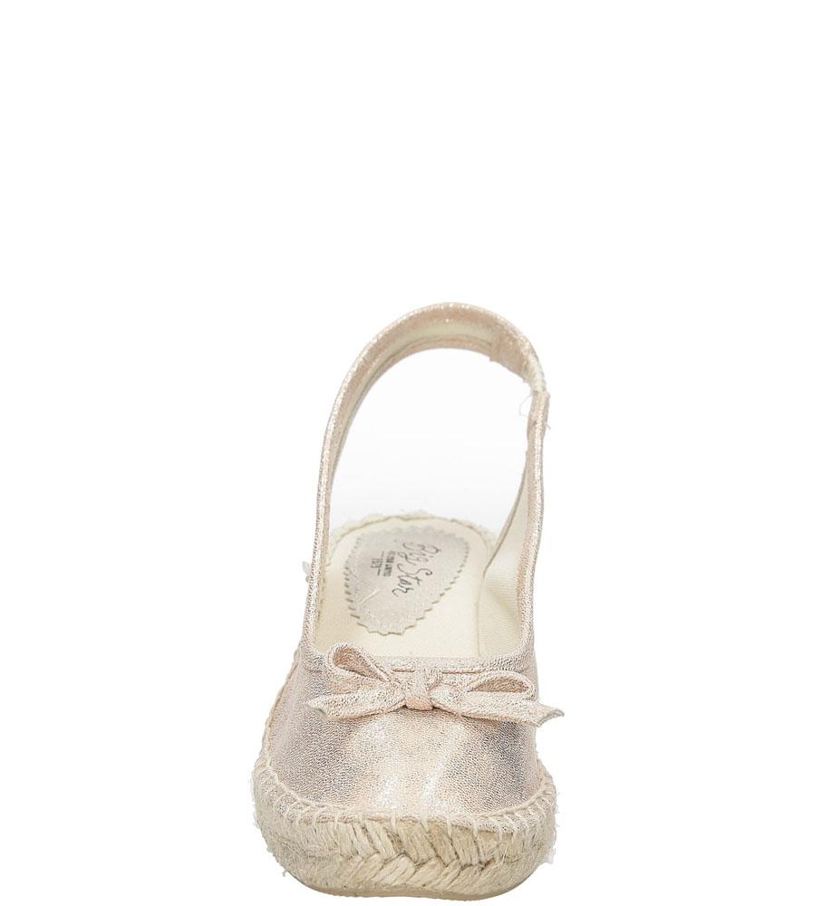 Sandały z kokardą Big Star W2745 kolor złoty