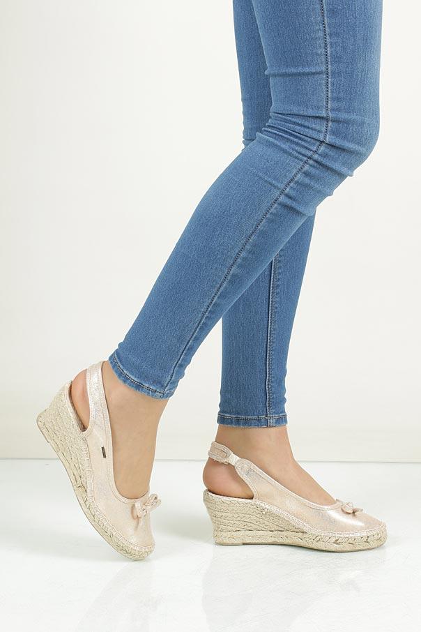 Sandały z kokardą Big Star W2745 wkladka materiał/skóra