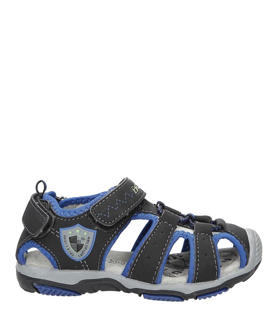 Dziecięce Sandały na rzepy Casu 5SD9072 czarny;niebieski;