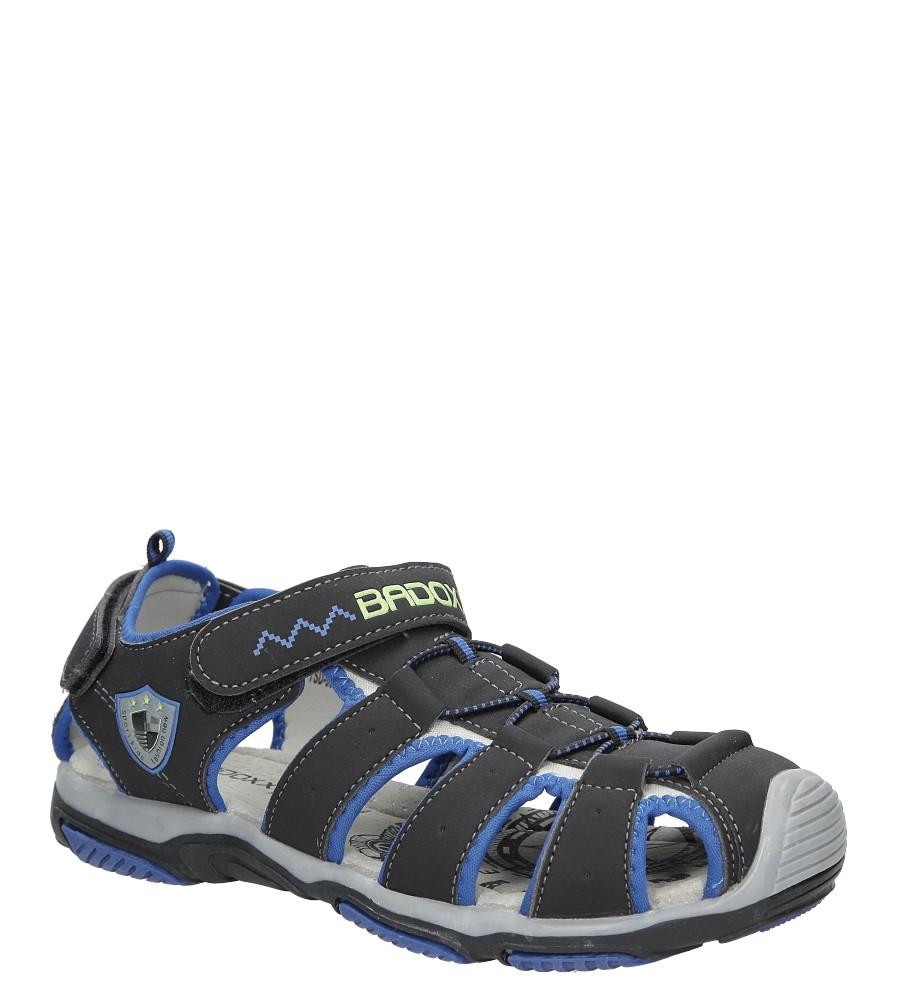 Męskie Sandały na rzepy Casu 7SD9072 czarny;niebieski;