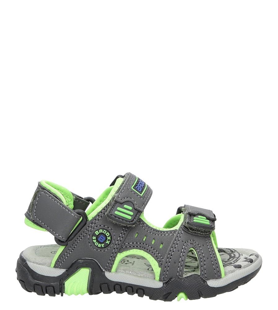 Dziecięce Sandały na rzepy Casu 5SD9070 czarny;zielony;