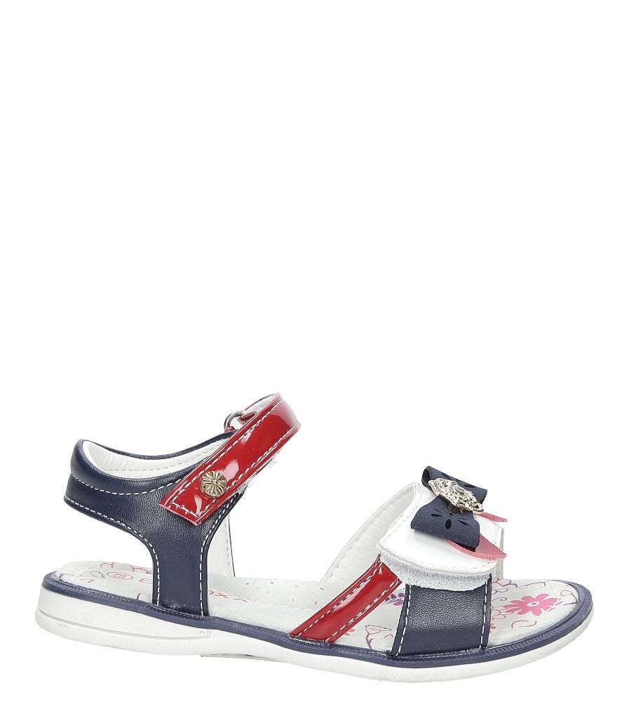 Sandały z kokardą na rzepy Casu 3SD343