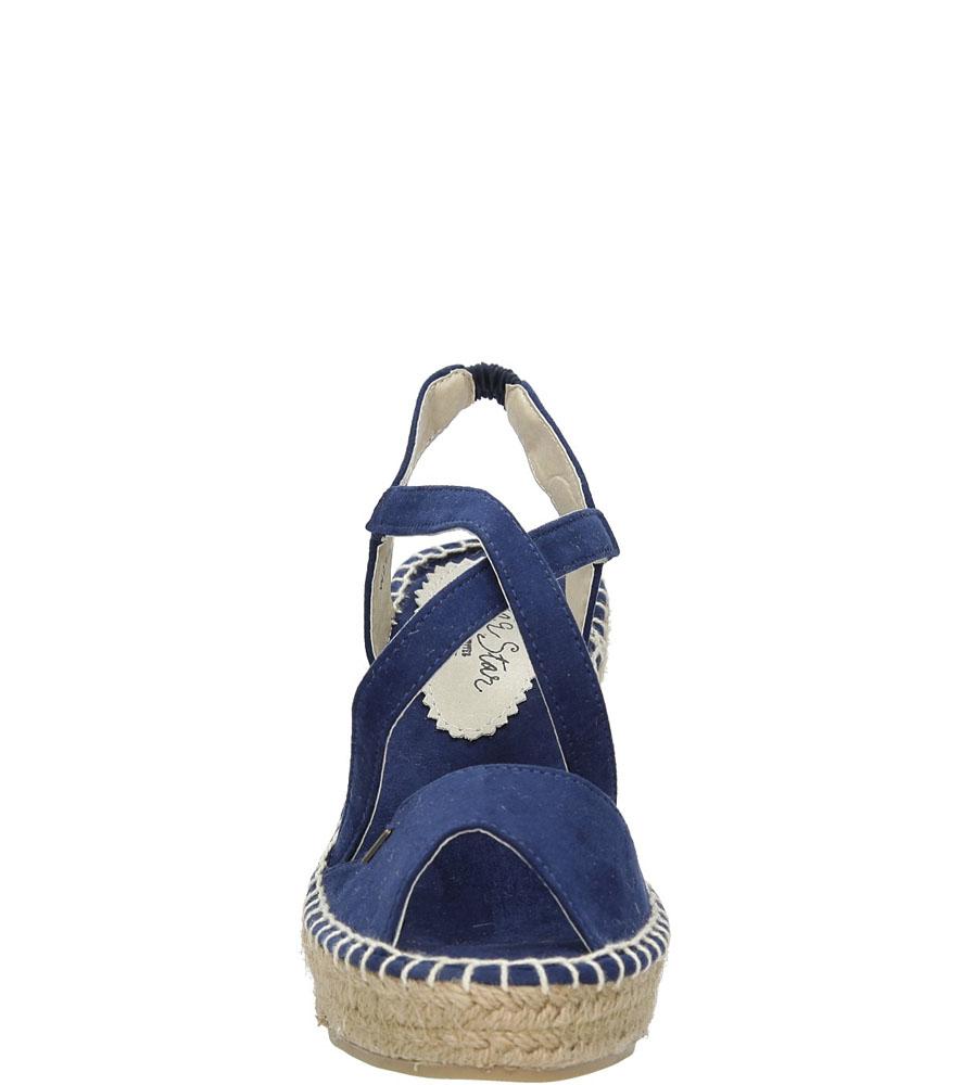 Sandały na koturnie Big Star W27453 kolor granatowy