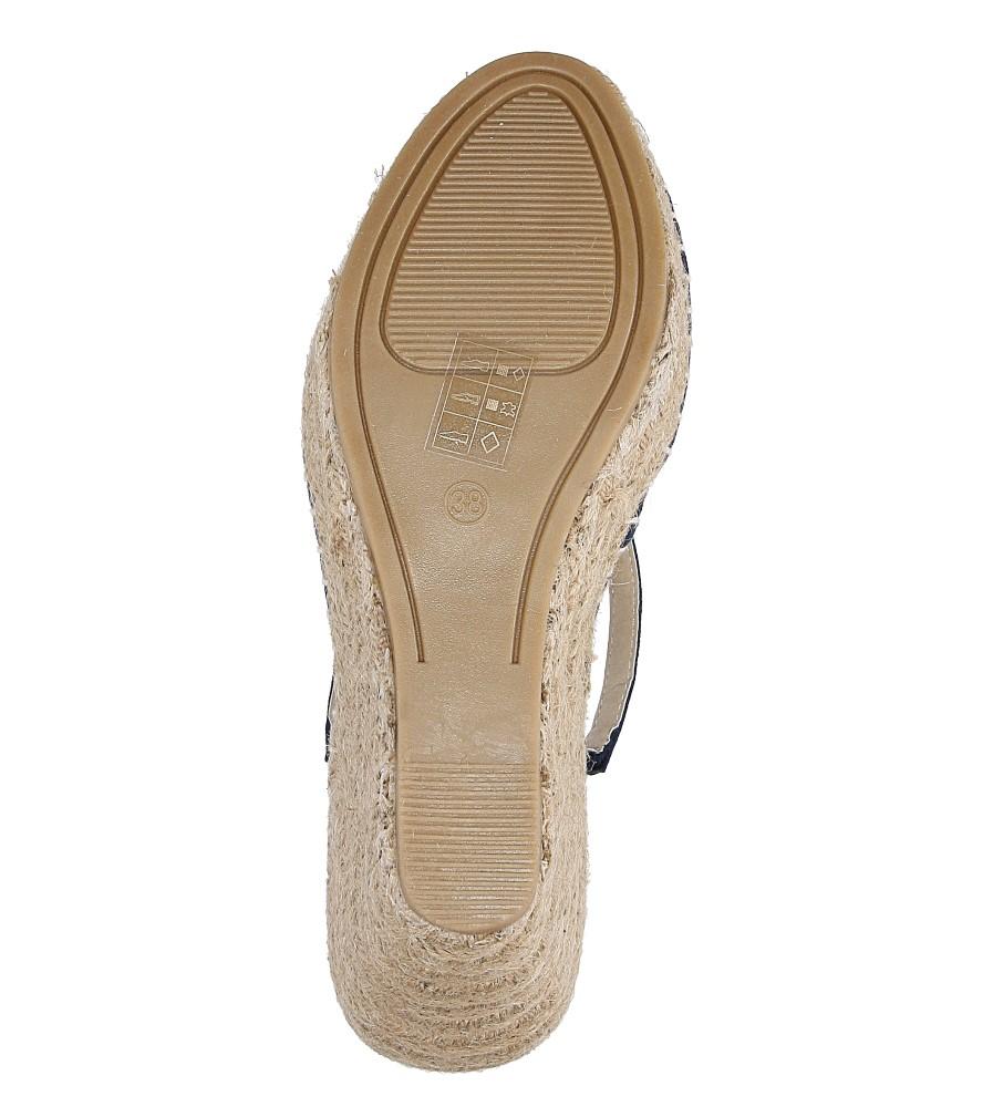 Sandały na koturnie Big Star W27453 wys_calkowita_buta 15 cm