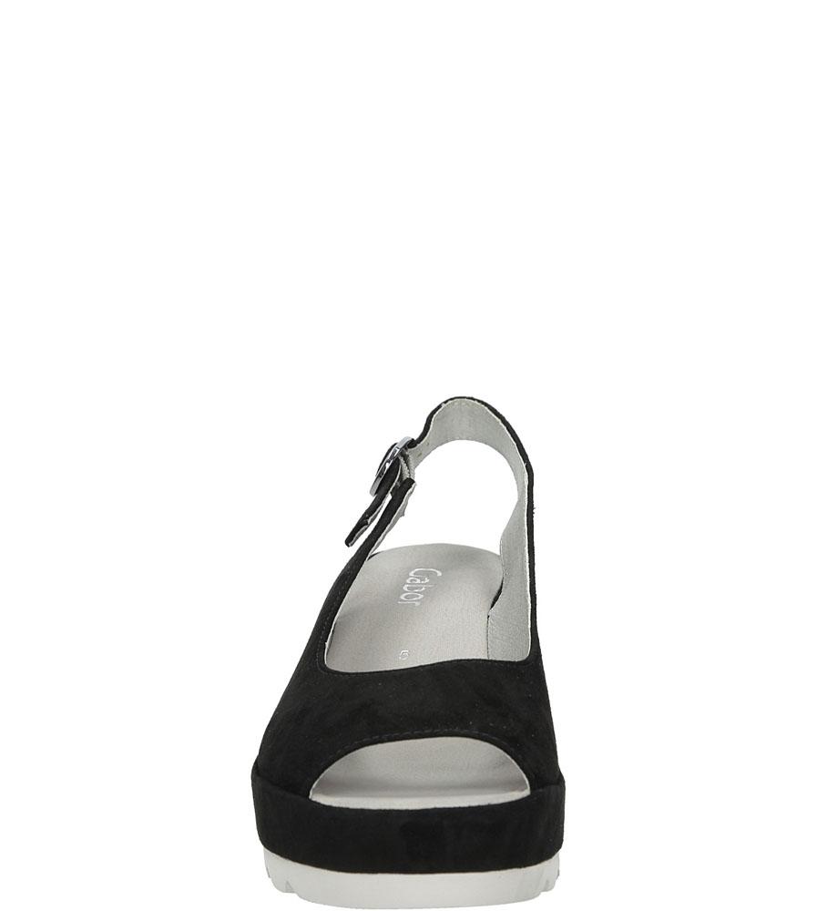 Sandały na koturnie Gabor 65.744 kolor czarny