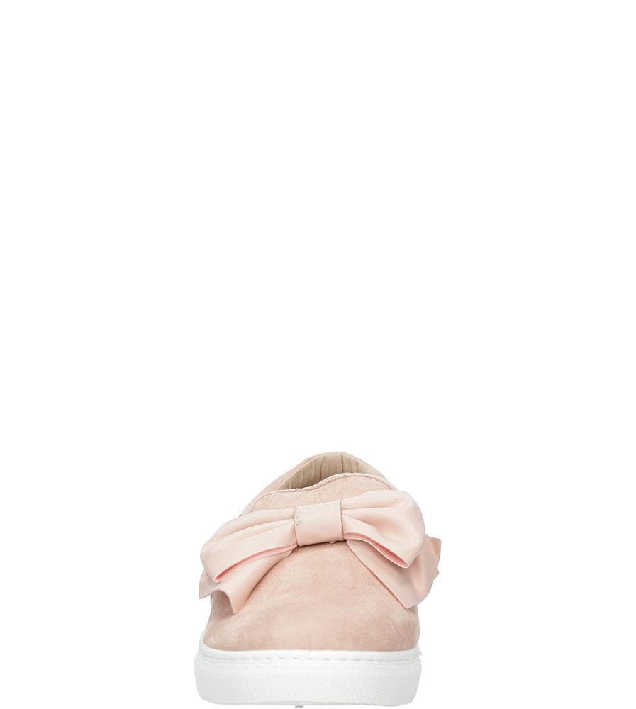 Slip on z kokardą Casu 88-112 kolor różowy