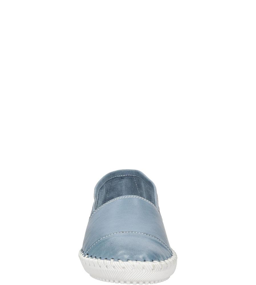 Półbuty skórzane Casu SANDRA01 kolor niebieski
