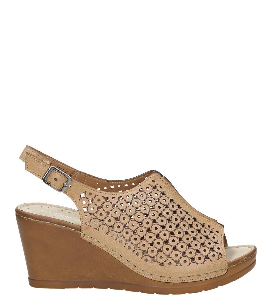 Sandały ażurowe na koturnie Casu BZ23342-1