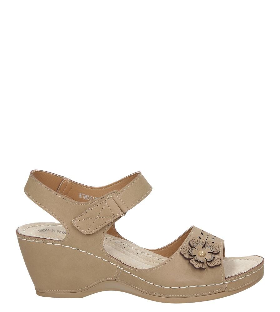 Sandały ażurowe na koturnie Casu BZT68725-1