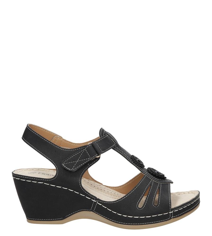 Sandały ażurowe na koturnie Casu BZT68725-9