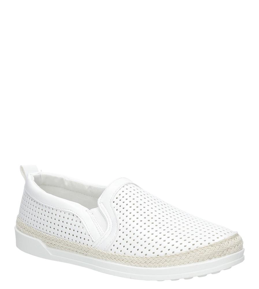 Damskie Slip on Casu HL61073 biały;;