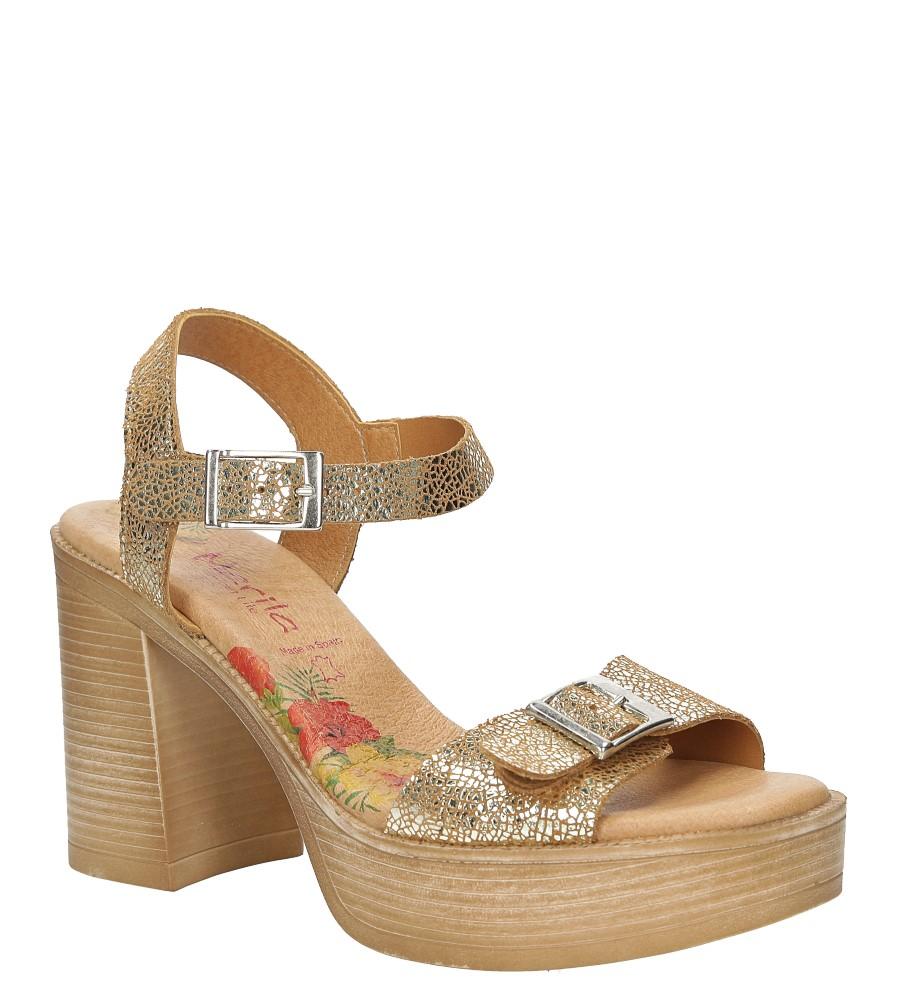 Sandały skórzane na słupku Marila 6032/IL-24