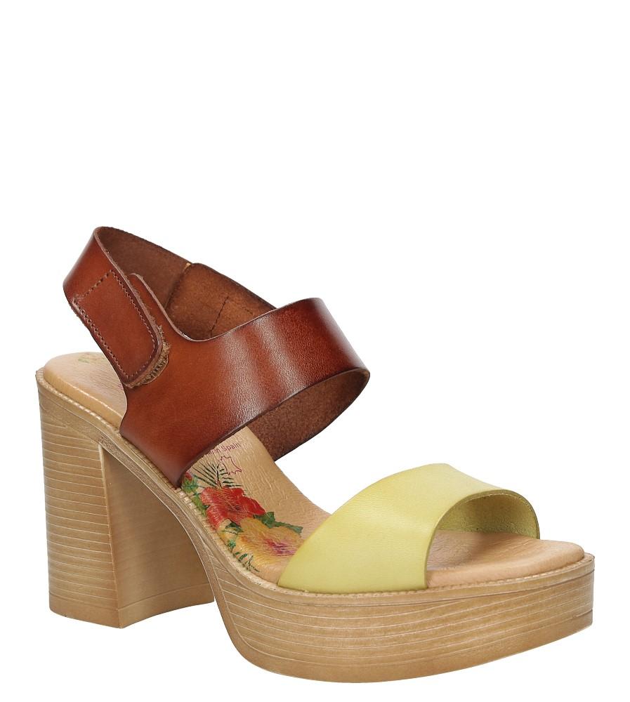 Sandały skórzane na słupku Marila 666/IL-24
