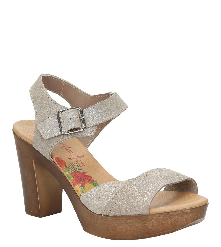 Sandały skórzane na słupku Marila 2119B/IYZ-24