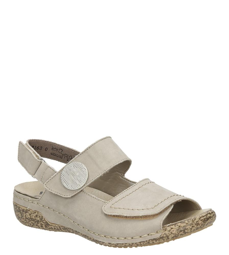 Sandały skórzane Rieker V7272 producent Rieker