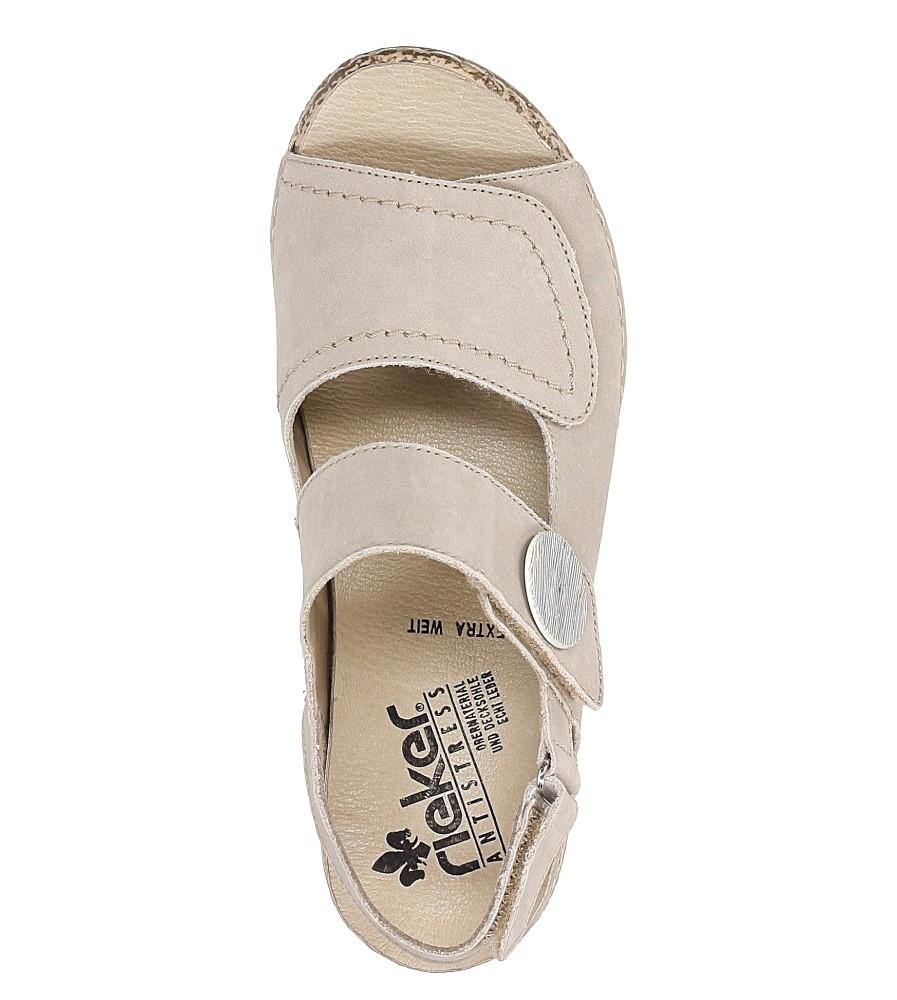 Sandały skórzane Rieker V7272 wysokosc_obcasa 3 cm
