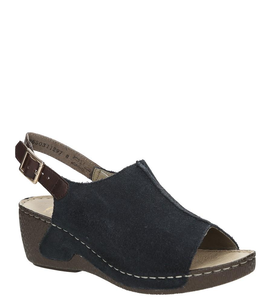 Sandały zamszowe na koturnie Rieker 65660 producent Rieker